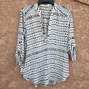 Lush • tribal print blouse